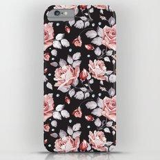 Vintage Pink Rose Flowers iPhone 6s Plus Slim Case