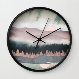 Forest Lake Evening Wall Clock
