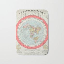 Flat Earth Society Wall Map Bath Mat