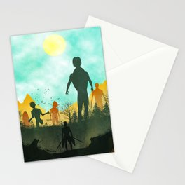Attack on Titan Silhouette Stationery Cards