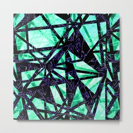 Fragment Gems (colourway green and purple) Metal Print