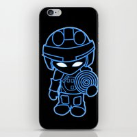 tron iPhone & iPod Skins featuring Mini Tron by thomasalbany