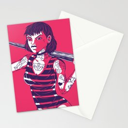 Bad Striped Girl 03 Stationery Cards