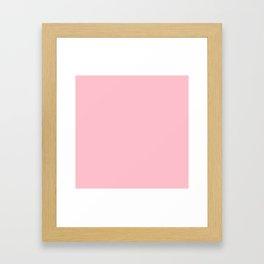 Bubble Gum Pink Framed Art Print
