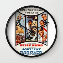 Vintage Movie Posters, Billy Budd Wall Clock