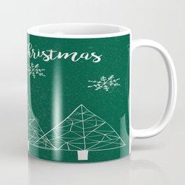 Merry Christmas Green Coffee Mug