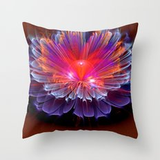 Neon Flower - A Vision all Aglow Throw Pillow