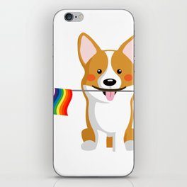 LGBT Gay Pride Flag Corgi - Pride Women Gay Men iPhone Skin