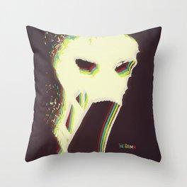 The Vaporized Grimm Throw Pillow