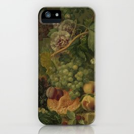 Still Life with Flowers and Fruits, Albertus Jonas Brandt (1816 - 1817) iPhone Case