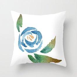 Blue Rose Deko-Kissen