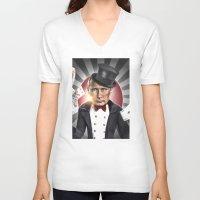 putin V-neck T-shirts featuring PUTIN  by NOXBIL