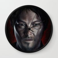daryl Wall Clocks featuring Daryl by Voss fineart