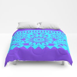 PAPEL PICADO - purple Comforters