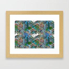 Pixelland Framed Art Print