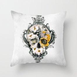 Skull Still Life Throw Pillow