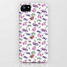 Orchids and Lillies iPhone Case