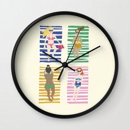 Beach Read Wall Clock