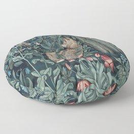 William Morris Forest Fox Tapestry Floor Pillow
