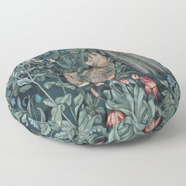 William Morris Forest Fox Tapestry Floor Pillow