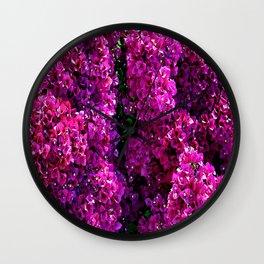 flwers in lilla Wall Clock