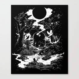 XIII - Death Card (Shadow Light Tarot) Canvas Print