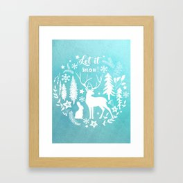 Let it snow! Christmas illustration Framed Art Print