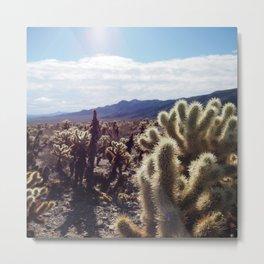 Joshua Tree Cactus Metal Print