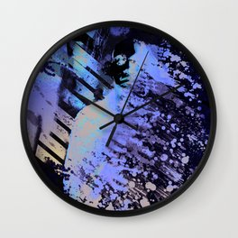 Splatter-Portrait Wall Clock