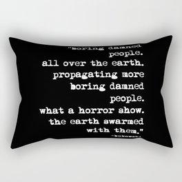 Charles Bukowski Typewriter White Font Quote People Rectangular Pillow