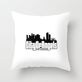 City Of Angels : Los Angeles Throw Pillow