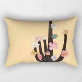 Flowering Cactus Rectangular Pillow