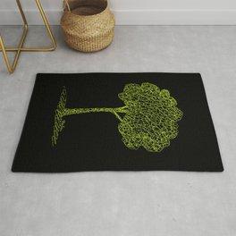 Nature Tree Drawing Rug