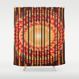 Hidden Sun Shower Curtain