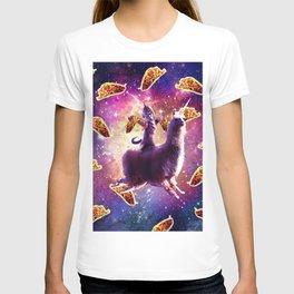 Warrior Space Cat On Llama Unicorn - Taco T-shirt