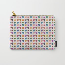 Tiny cute Hearts Pattern Carry-All Pouch