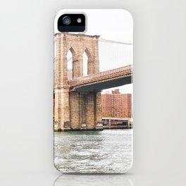 298. Hudson and Brooklyn Bridge, New York iPhone Case