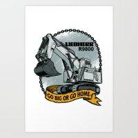 Liebherr R9800 Art Print