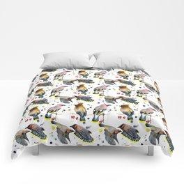 Cedar Waxwing Study Comforters