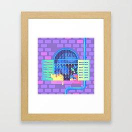 Windowsill Basking Framed Art Print