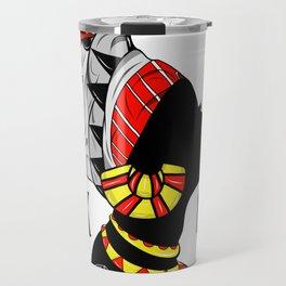 Black Queen (red) Travel Mug