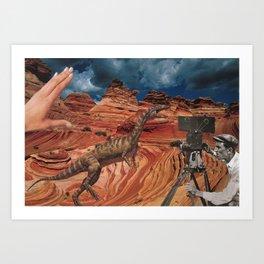 Jurassic Walt  Art Print