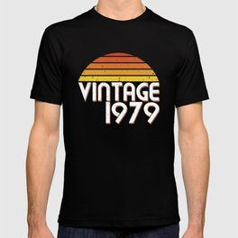 40th Birthday 40 Years Vintage Since 1979 Gift T Shirt