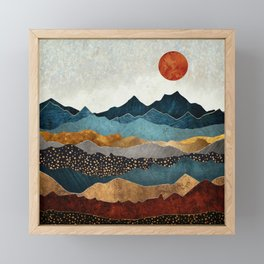 Amber Dusk Framed Mini Art Print