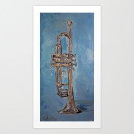 Blue Brass Art Print