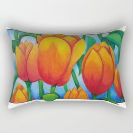 Frame Tulips Rectangular Pillow