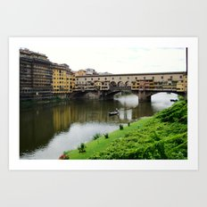 ponte vecchio, florence, italy Art Print
