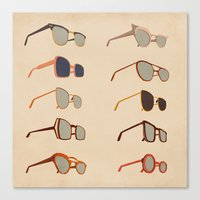sunglasses Canvas Prints featuring Sunglasses by Giordano Poloni