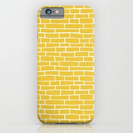 Brick Road - Yellow and white iPhone Case