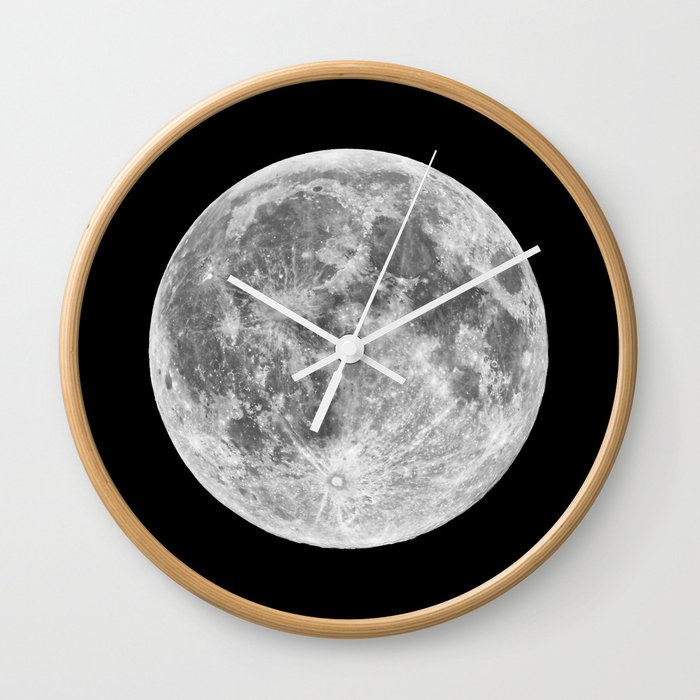 Full Moon Wall Clock By Space99 Society6